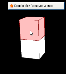 Removing a cube to the design