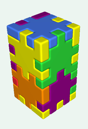 a physical Happy Cube structure